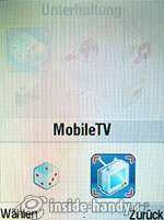 Motorola MotoRAZR MAXX: MobileTV