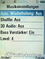 Motorola MotoRAZR MAXX: Musikeinstellungen