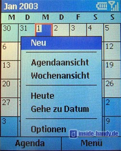 Motorola MPX200 - Display Kalender mit Menü