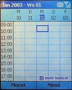 Motorola MPX200 - Display Kalender Wochenansicht