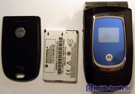 Motorola MPX200 - Handy Akku und Akkuabdeckung