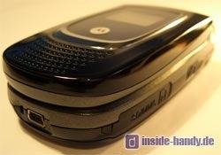 Motorola MPX200 - Unterseite und Seitenansicht