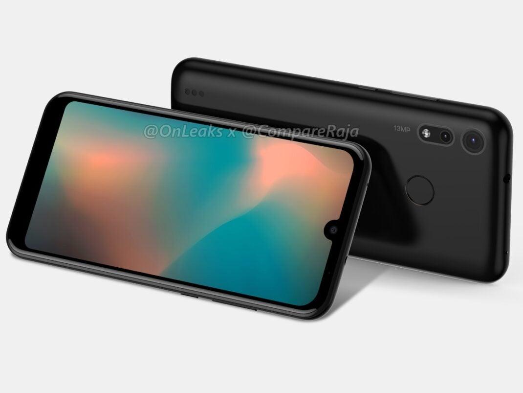 Seitliche Ansicht des Motorola One Power 2. Zu sehen auch die Dual-Kamera auf der Rückseite.