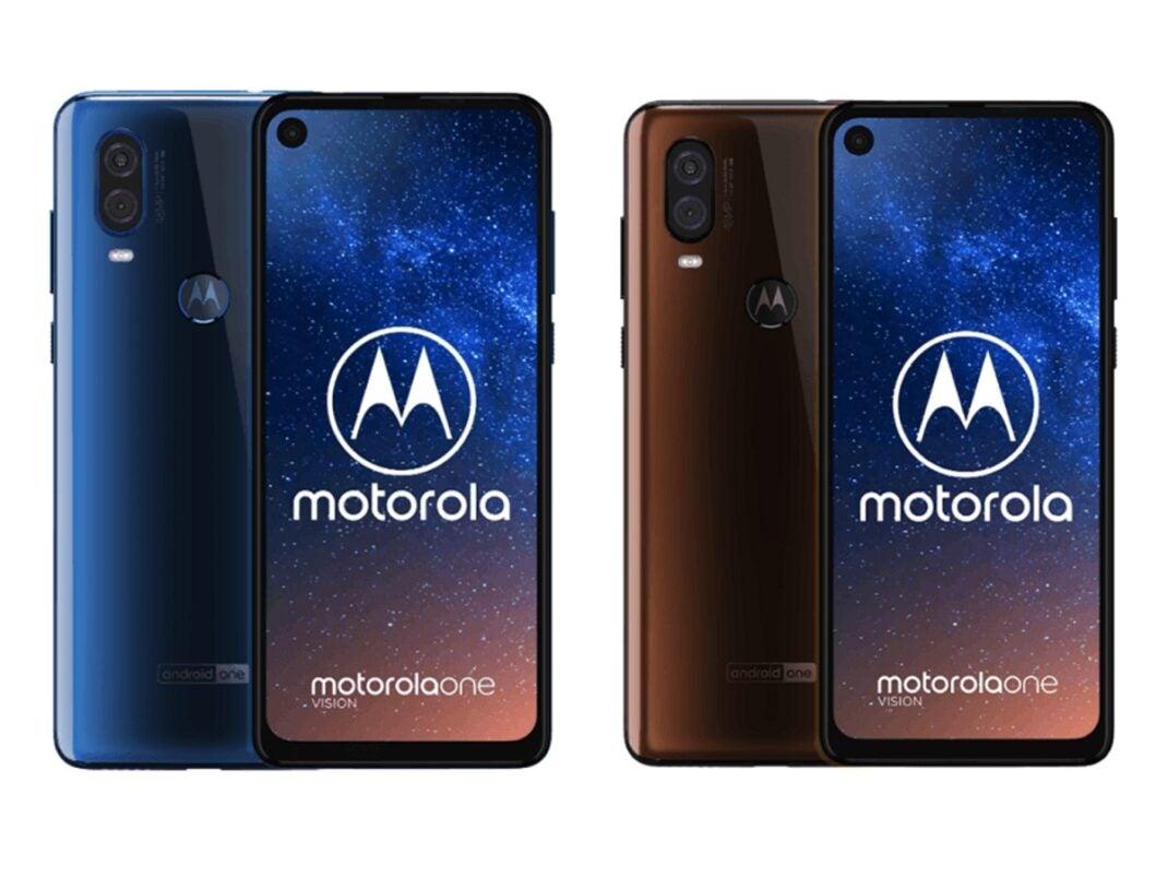 Beide Farbversionen des Motorola One Vision.