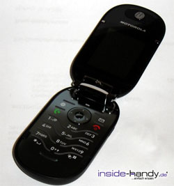 Motorola PEBL V6 - aufgeklappt