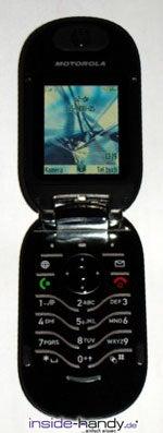 Motorola PEBL V6 - aufrecht offen