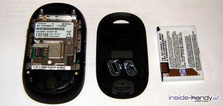 Motorola PEBL V6 - auseinander von hinten