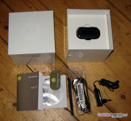 Motorola PEBL V6 - Lieferumfang