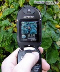 Motorola PEBL V6 - Photo schießen