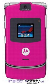 Motorola Pink Razr V3 Datenblatt - Foto des Motorola Pink Razr V3