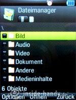 Motorola Rizr Z8: Dateimanager