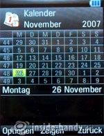 Motorola Rizr Z8: Kalender