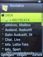 Motorola Rizr Z8: Kontakte