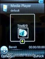 Motorola Rizr Z8: Media Player