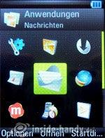 Motorola Rizr Z8: Menü