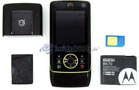 Motorola Rizr Z8: offenes Gerät Front