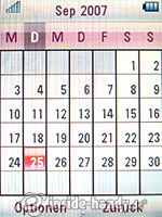 Motorola Rokr Z6: Kalender