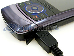 Motorola Rokr Z6: USB Anschluss