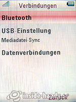 Motorola Rokr Z6: Verbindungen