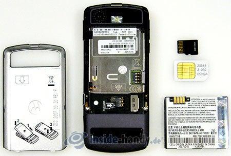Motorola Rokr Z6: zerlegtes Gerät hinten