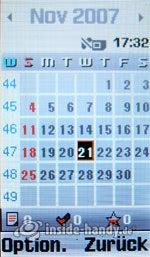 Motorola SGH-F210: Kalender