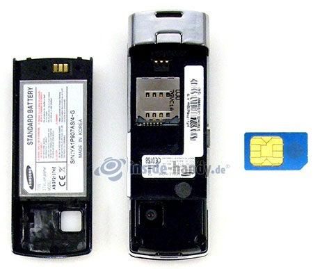Motorola SGH-F210: offenes Gerät hinten