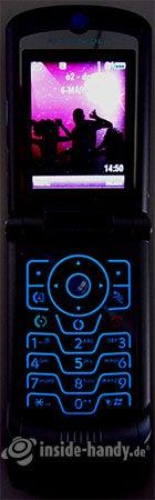 Motorola V3xx: Beleuchtung