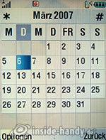 Motorola V3xx: Kalender