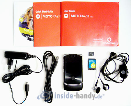 Motorola V3xx: Lieferumfang