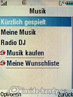 Motorola V3xx: Musik