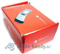 Motorola V3xx: Verpackung