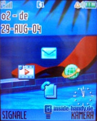 Motorola V80 - Display Standardanzeige
