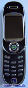 Motorola V80 - Frontalansicht geöffnet