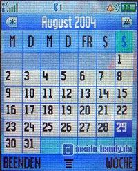 Motorola V80 - Kalender Monatsübersicht