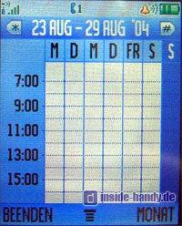 Motorola V80 - Kalender Wochenübersicht