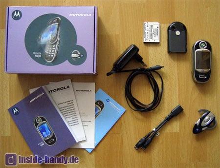 Motorola V80 - Lieferumfang