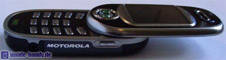 Motorola V80 - Seitenansicht geöffnet