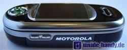 Motorola V80 - Seitenansicht