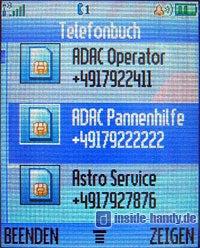 Motorola V80 - Telefonbuch