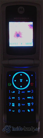Motorola W220: Beleuchtung