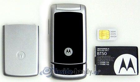 Motorola W220: in Bestandteile zerlegt