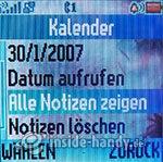 Motorola W220: Kalender