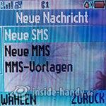 Motorola W220: Neue Nachricht
