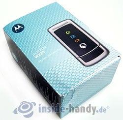 Motorola W220: Verpackung