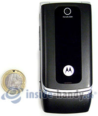 Motorola W375: Größenverhältnis