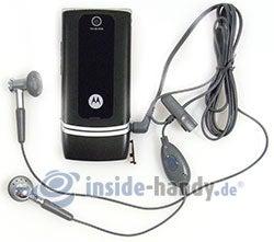 Motorola W375: mit Headset