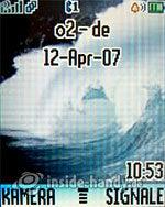 Motorola W375: Startbildschirm