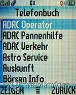 Motorola W375: Telefonbuch