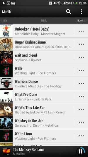 Musik-App des HTC One Max