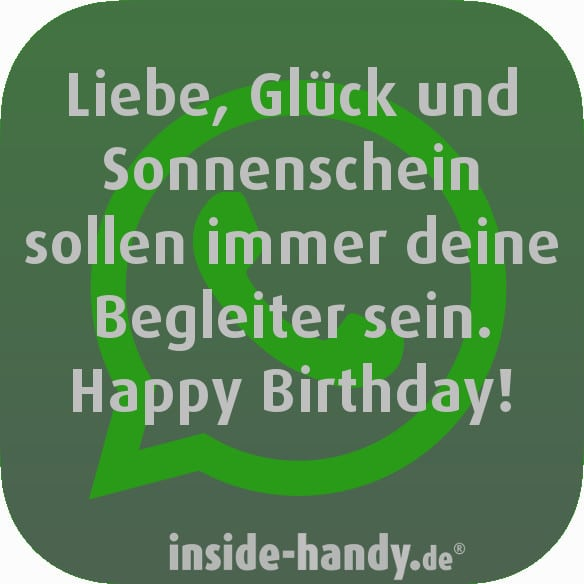 Nachdenkliche WhatsApp-Geburtstagssprüche